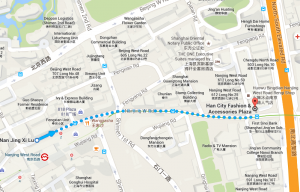 Map from metro to Han City Plaza