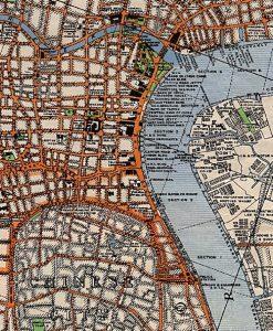 A 1933 map of the Bund