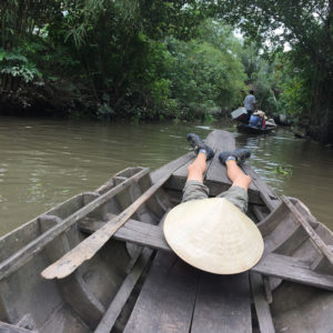 Canal ride in Mekong Delta, Vietnam