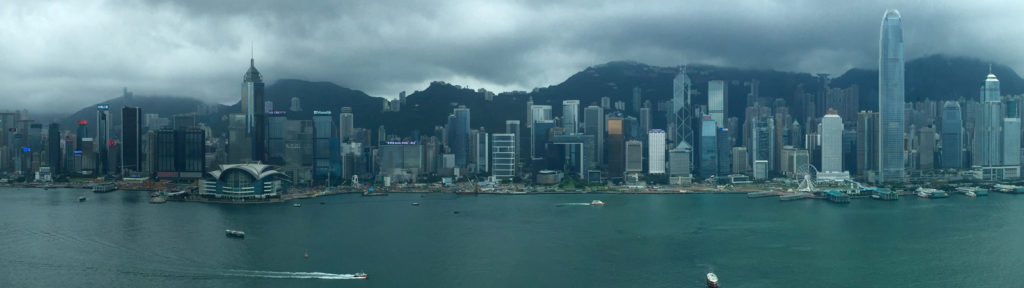Hong Kong skyline view from Aqua bar
