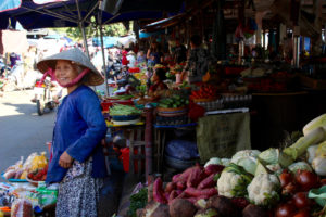 Typical market in Hoian