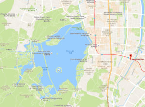 Map of West Lake, Hangzhou