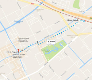 Map to Nanxiang Old Street