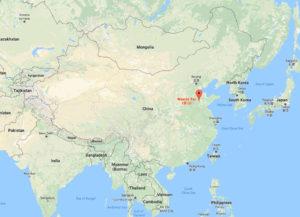 Google map showing Mount Tai