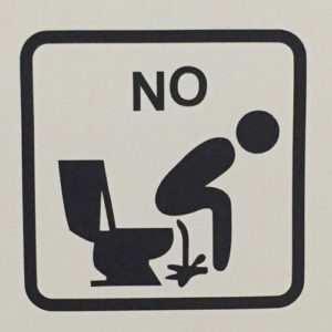 Funny sign in bathroom