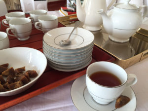 Tea service at The Grand Hotel, Nuwara Eliya