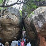 Leaning rocks
