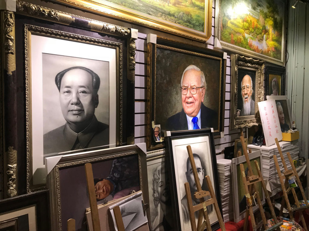 Portraits of Mao an Buffet