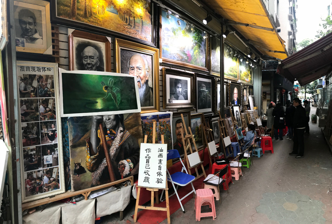 How Much To Paint A Car >> Dafen Oil Painting Village, Shenzhen - Travels in Asia