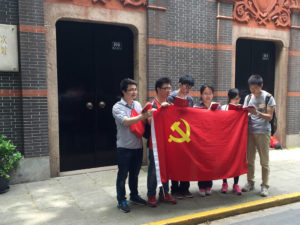 Students with PRC flag
