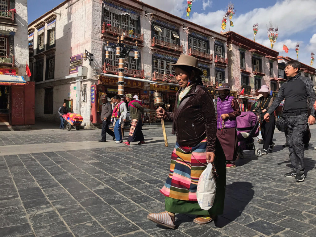 Old pilgrim woman