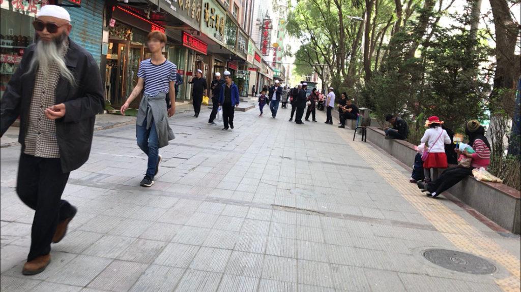 Men on sidewalk